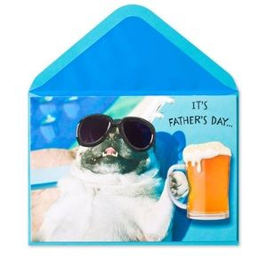 ⚡️5/$30⚡️Papyrus pool pug, Father's Day card